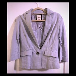 Anthropologie Eleveness Baby Blue Blazer jacket
